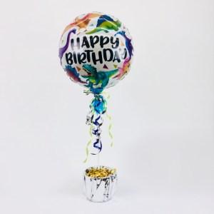 Tischdeko Happy Birthday Dinosaurier 85 cm