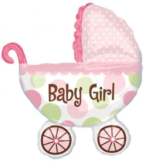 Μπαλόνι γέννησης καροτσάκι Baby Girl