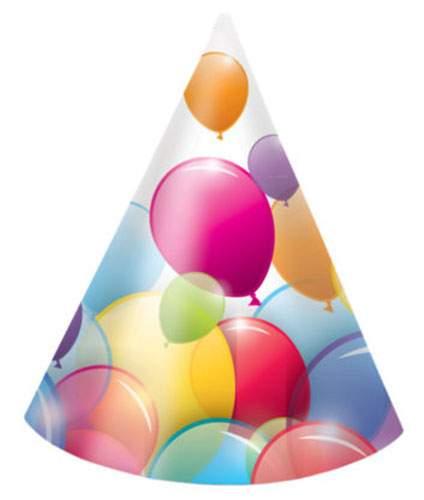 Καπελάκια πάρτυ Balloons (6 τεμ)