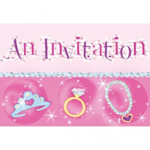 Προσκλητήρια πάρτυ Princess (6 τεμ)