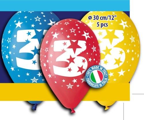 Μπαλόνια τυπωμένα για γενέθλια Νούμερο 3 (5 τεμ)