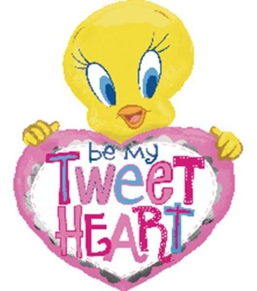Μπαλόνι Tweety με ροζ καρδιά 'Be my tweetheart'