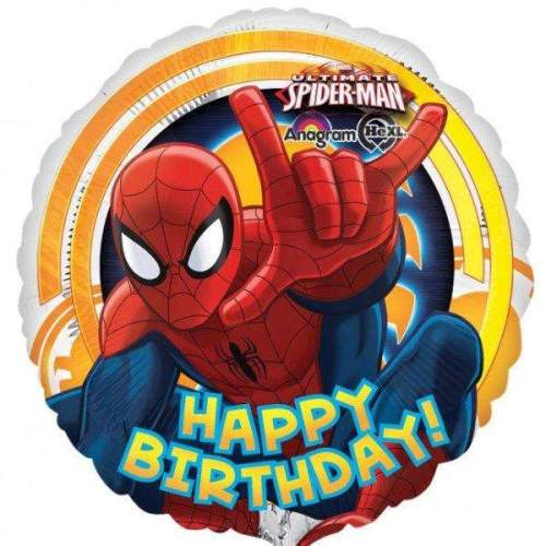 Μπαλόνι Spiderman happy birthday