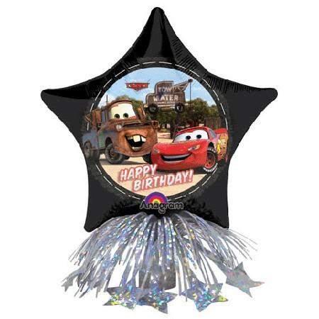 Μπαλόνι Cars Disney αστέρι με βαρίδιο και κορδέλες