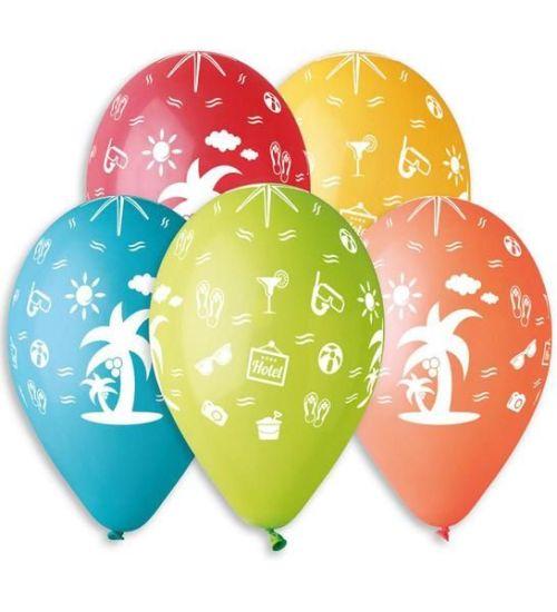"""12"""" Μπαλόνι τυπωμένο Διακοπές"""