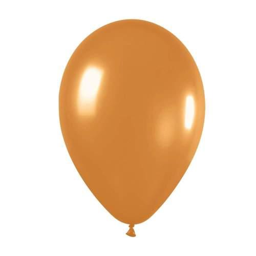 9'' Μεταλλικό Χρυσαφί λάτεξ μπαλόνι