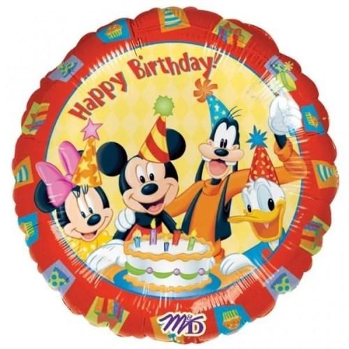 Μπαλόνι για γενέθλια Mickey και παρέα Happy Birthday