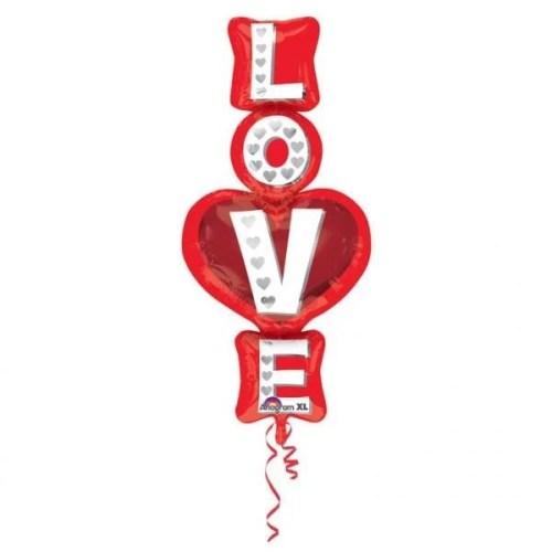 Μπαλόνι αγάπης 'Love' κάθετο 99 εκ