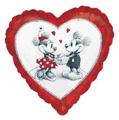 Μπαλόνι Καρδιά Mickey & Minnie Mouse ερωτευμένοι