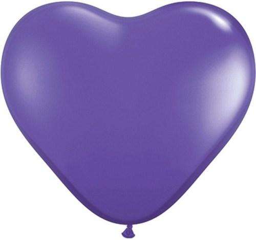 """17"""" Μπαλόνι καρδιά βιολετί"""