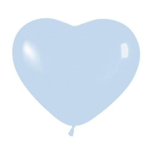 """6"""" Μπαλόνι καρδιά γαλάζια"""