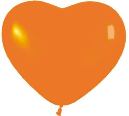Μπαλόνι καρδιά πορτοκαλί