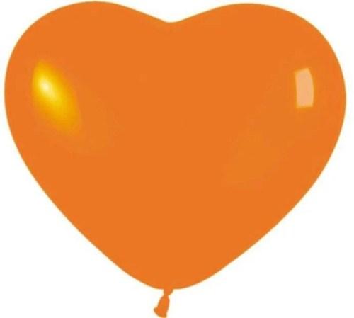 """12"""" Μπαλόνι καρδιά πορτοκαλί"""