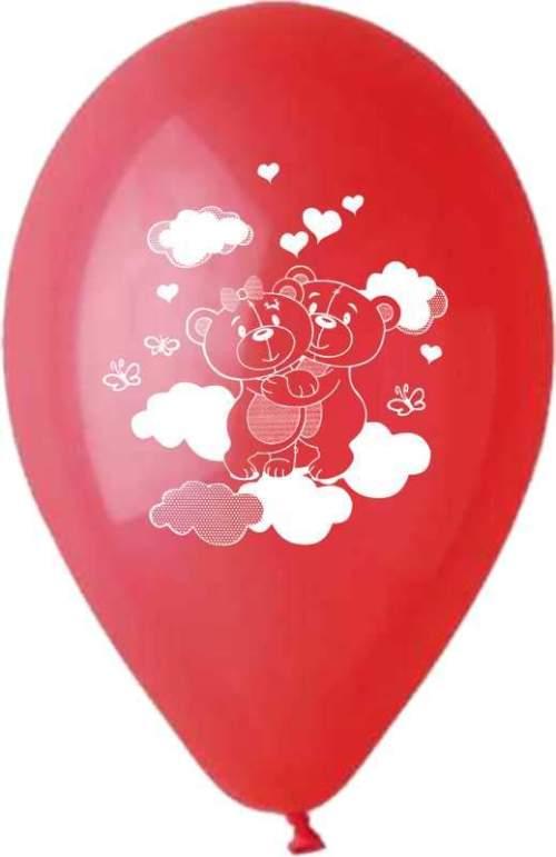 """12"""" Μπαλόνι τυπωμένο ερωτευμένα αρκουδάκια"""