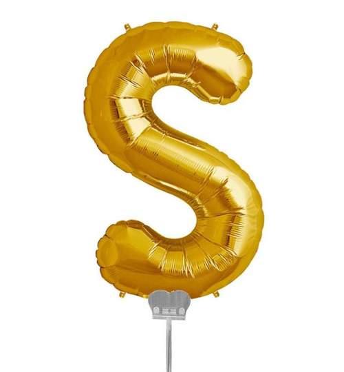 Μπαλονι 40 εκ Χρυσό Γράμμα S