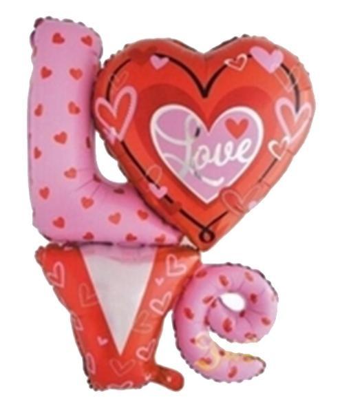 Μπαλόνι αγάπης Love κόκκινο ροζ 90 εκ