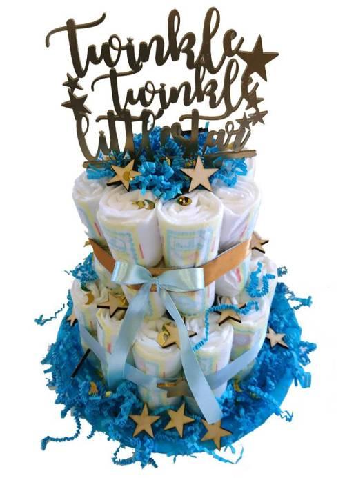 Διακοσμητικό από plexi glass για μωρότουρτα 'Twinkle Little Star'