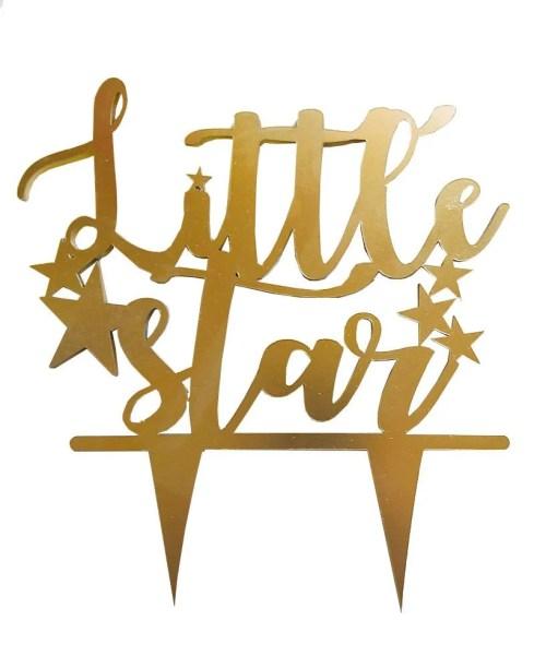 Διακοσμητικό από plexi glass για μωρότουρτα 'Little Star'