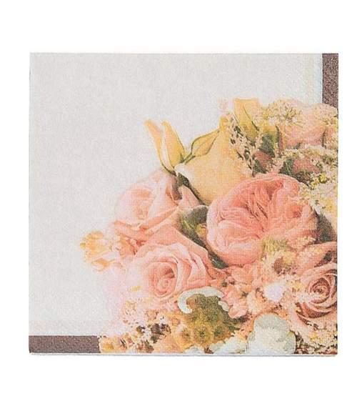 Χαρτοπετσέτες μικρές με λουλούδια (16 τεμ)