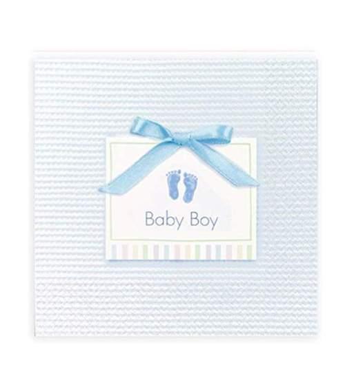 Γαλάζιες μικρές Χαρτοπετσέτες Baby Boy (16 τεμ)