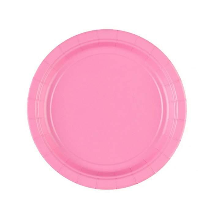 Πιάτα πάρτυ μικρά ροζ (8 τεμ)