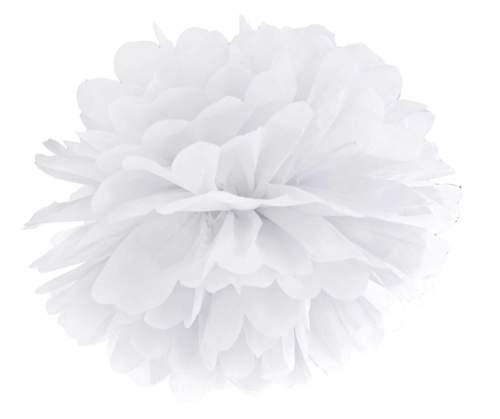 Λευκό χάρτινο pom pom
