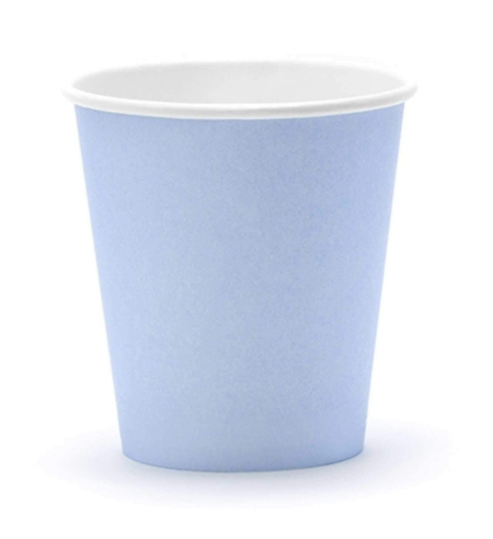 Ποτήρια πάρτυ χάρτινα παστέλ μπλε (6 τεμ)