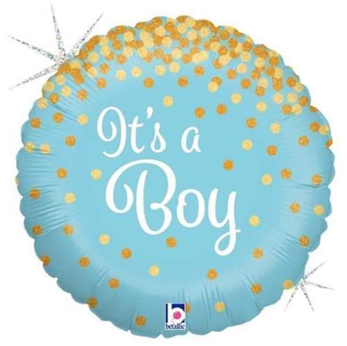 Μπαλόνι γέννησης Its a Boy με γκλίτερ