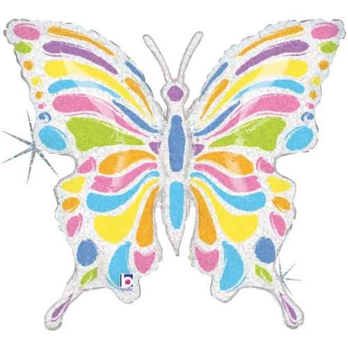 Μπαλόνι Πεταλούδα παστέλ χρώματα που ιριδίζει