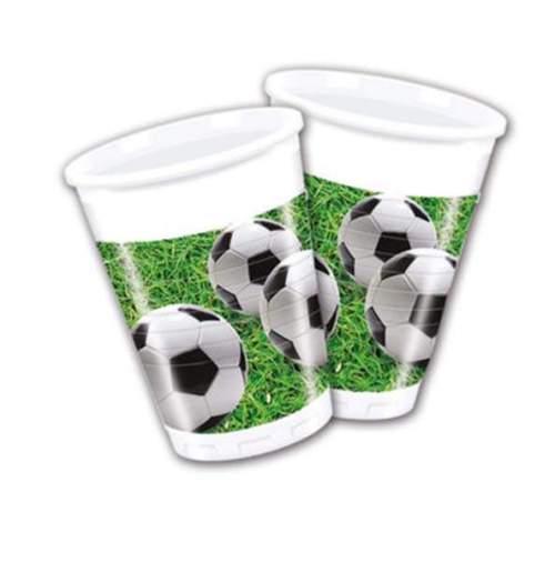 Ποτήρια πλαστικά μπάλες ποδοσφαίρου (8 τεμ)