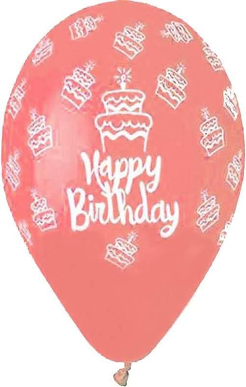 Μπαλόνι τυπωμένο για γενέθλια Κοραλί 'Happy Birthday' cake