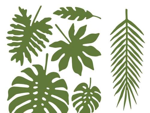 Διακοσμητικά Τροπικά φύλλα Aloha (21 τεμ)