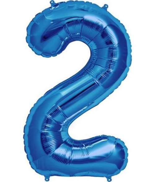 Τεράστιο Μπαλόνι 100 εκ Μπλε Αριθμός 2