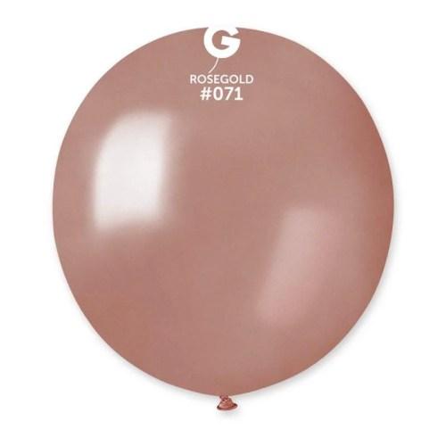 """48cm - 19"""" Ροζ-Χρυσό μεγάλο μπαλόνι"""