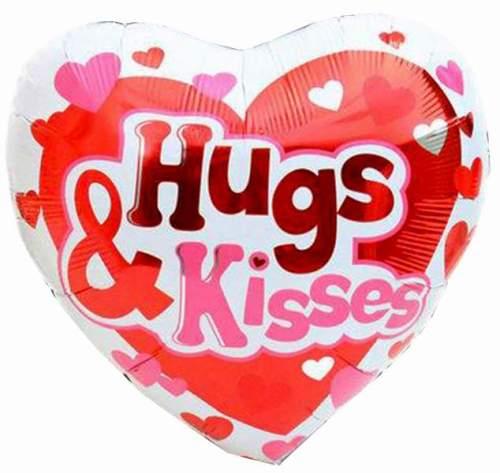 Μπαλόνι αγάπης Καρδιά Hugs & Kisses 45 εκ