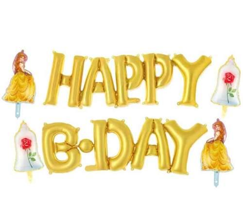 Σετ μπαλονιών Happy B-day Πεντάμορφη (6 τεμ)