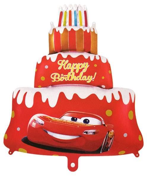 Μπαλόνι Cars Disney κόκκινη τούρτα