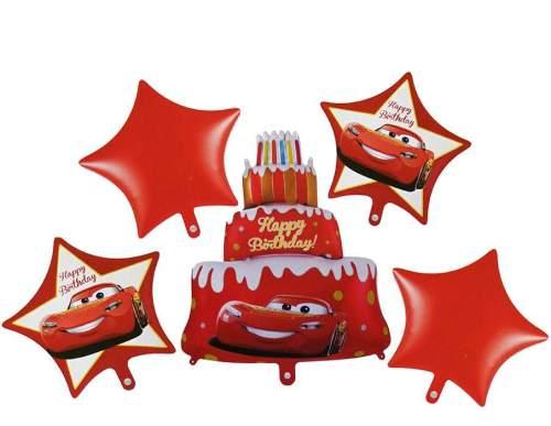 Σετ μπαλονιών Cars Disney Happy Birthday (5 τεμ)