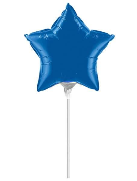 Μπαλονάκι μπλε αστεράκι μαζί με καλαμάκι