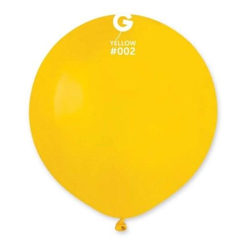 48cm - 19'' Κίτρινο μεγάλο μπαλόνι