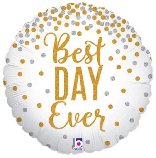 Μπαλόνι Best Day Ever γκλίτερ 45 εκ