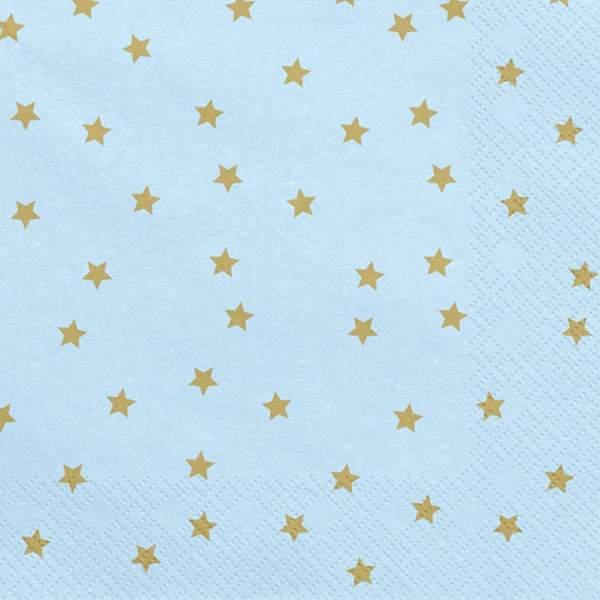 Χαρτοπετσέτες γαλάζιο με αστεράκια (20 τεμ)