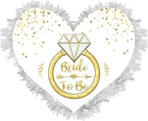 Χειροποίητη μεγάλη Πινιάτα καρδιά ''Bride to be''