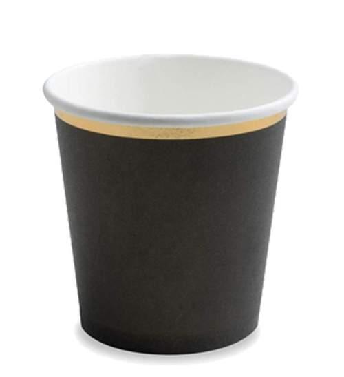 Ποτήρια πάρτυ χάρτινα μαύρα με χρυσό (6 τεμ)