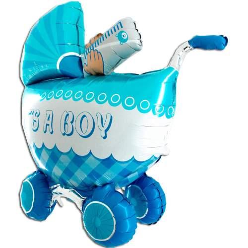 Μπαλόνι γέννησης καροτσάκι 3D Boy 107 εκ