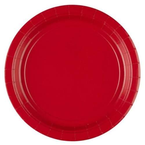 Πιάτα πάρτυ μεγάλα κόκκινα (8 τεμ)