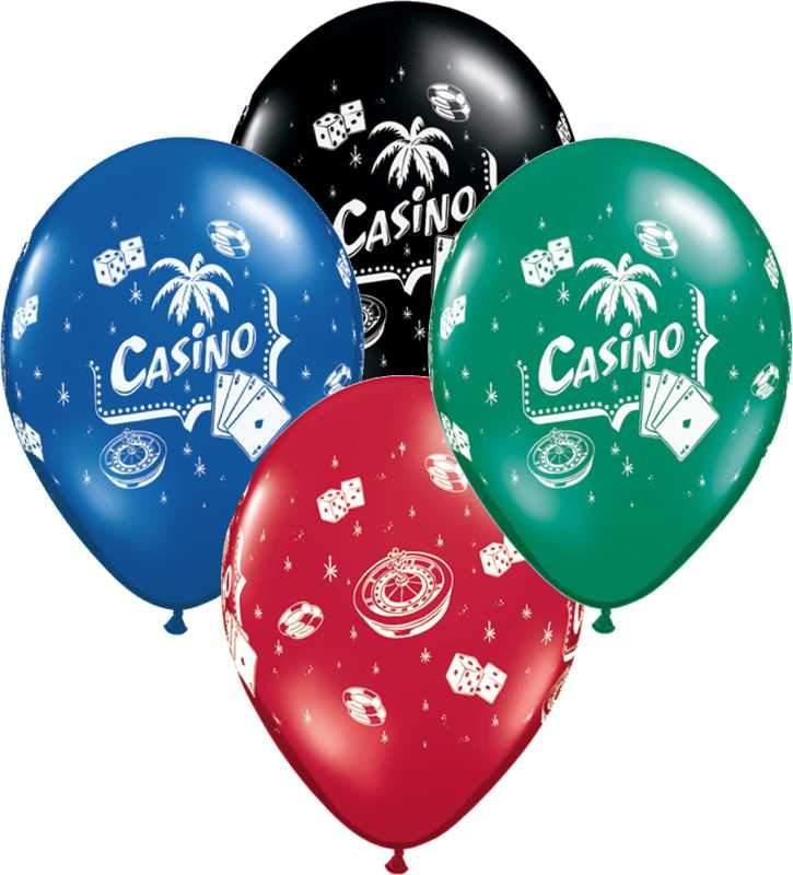 """12"""" Μπαλόνι τυπωμένο Casino"""