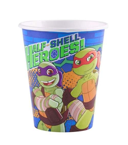 Ποτήρια πάρτυ χάρτινα χελωνονιντζάκια (8 τεμ)