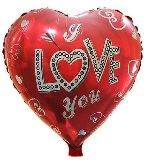 Μπαλόνι αγάπης Καρδιά 'Love You' βέλος & καρδούλες
