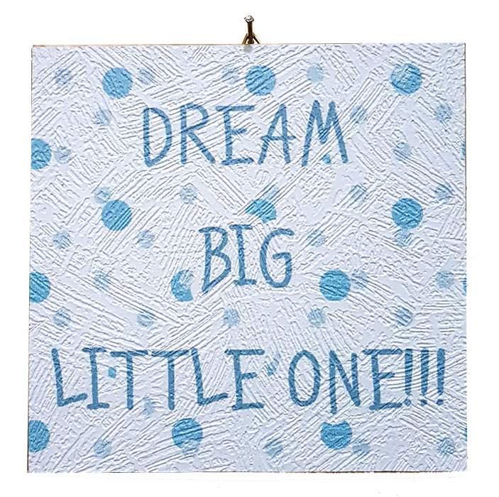 Καδράκι Βάπτισης Dream big little one